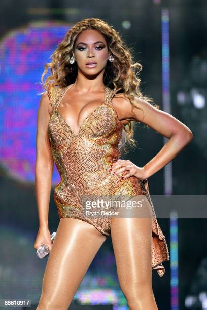 Singer Beyonce Knowles performs onstage at Madison Square Garden on June 21 2009 in New York City