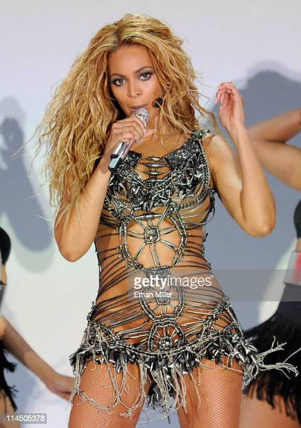 Singer Beyonce Knowles performs onstage during the 2011 Billboard Music Awards at the MGM Grand Garden Arena May 22 2011 in Las Vegas Nevada