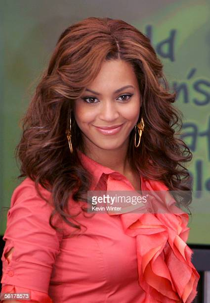 Singer Beyonce Knowles poses at the 2005 World Children's Day at the McDonalds Los Angeles Ronald McDonald House on November 15 2005 in Los Angeles...
