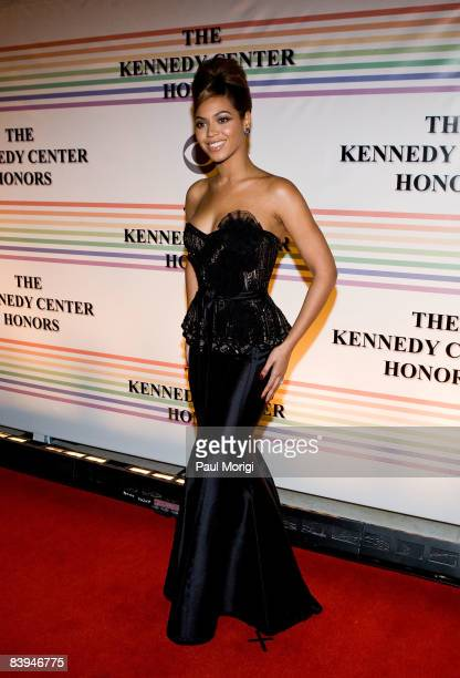 Singer Beyonce Knowles poses for a photo on the red carpet at the 31st Annual Kennedy Center Honors at the Hall of States inside the John F. Kennedy...