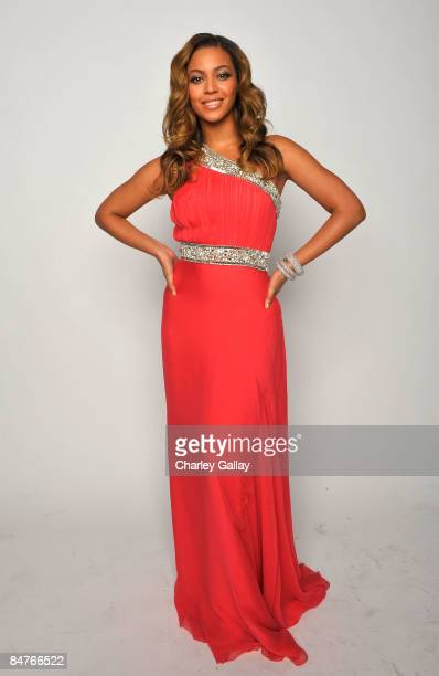 Singer Beyonce Knowles poses for a portrait during the 40th NAACP Image Awards held at the Shrine Auditorium on February 12 2009 in Los Angeles...