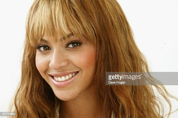 Singer Beyonce Knowles poses for a portrait in a studio at the '46664 Give One Minute of Your Life to AIDS' concert at Greenpoint Stadium on November...