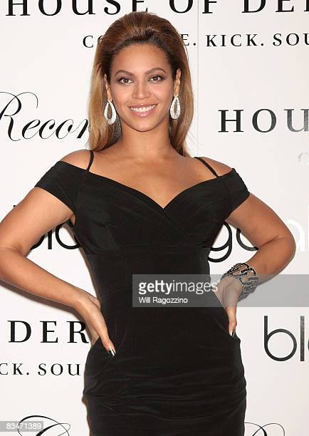 Singer Beyonce Knowles promotes the new House of Dereon collection inspired by the movie Cadillac Records at Bloomingdale's on 59th Street on October...