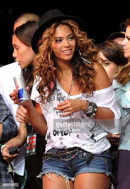 Singer Beyonce Knowles seen during Day 1 of the Coachella Valley Music Art Festival 2010 held at the Empire Polo Club on April 16 2010 in Indio...