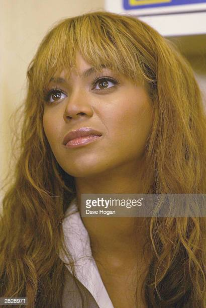 Singer Beyonce Knowles visits the Indawo Yokobelekisa Mothers 2 Mothers centre for young single mothers who have the opportunity to help each other...