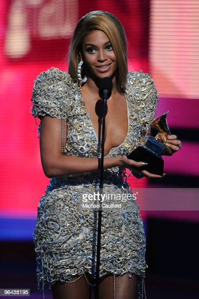 Singer Beyonce onstage at the 52nd Annual GRAMMY Awards held at Staples Center on January 31, 2010 in Los Angeles, California.