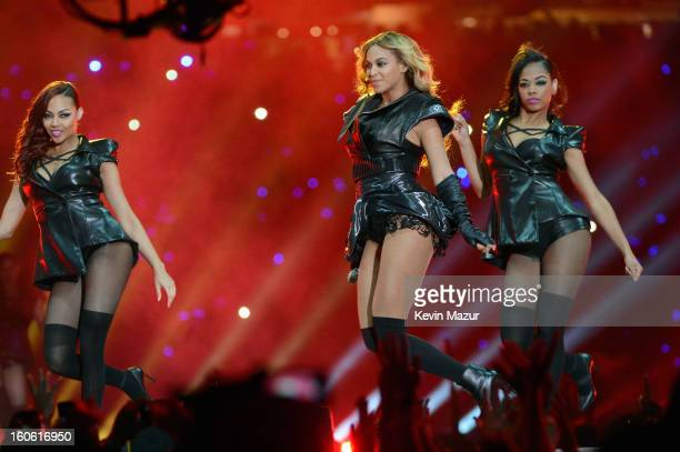 Singer Beyonce performs during the Pepsi Super Bowl XLVII Halftime Show at MercedesBenz Superdome on February 3 2013 in New Orleans Louisiana