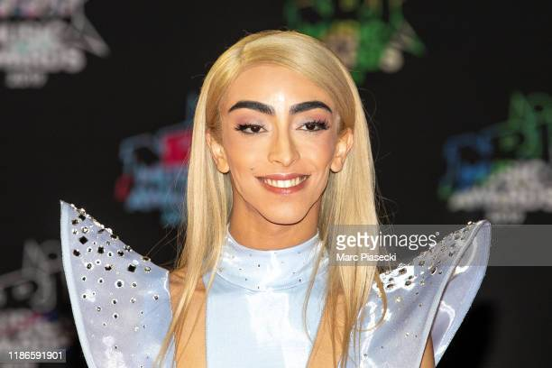 Singer Bilal Hassani attends the 21st NRJ Music Awards At Palais des Festivals on November 09 2019 in Cannes France