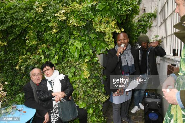 Singer Bilal Lester performs during Zelia Van Den Bulke Aprons show At Zelia Abbesses Shop on May 1, 2018 in Paris, France.