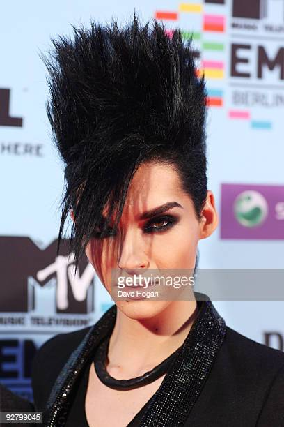 Singer Bill Kaulitz arrives for the 2009 MTV Europe Music Awards held at the O2 Arena on November 5 2009 in Berlin Germany