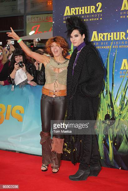 Singer Bill Kaulitz from Tokio Hotel and Davorka Tovilo attend the 'Arthur Und Die Minimoys 2' premiere at Sony Center on November 22, 2009 in...