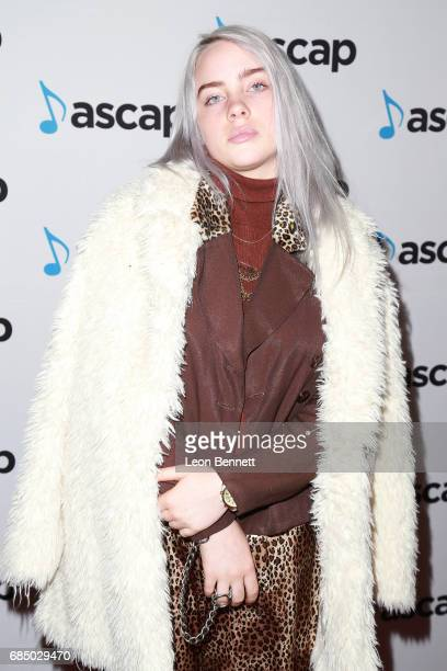 Singer Billie Eilish attended the 34th Annual ASCAP Pop Music Awards at The Wiltern on May 18 2017 in Los Angeles United States