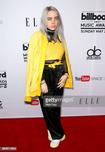 Singer Billie Eilish attends the '2017 Billboard Music Awards' And ELLE Present Women In Music At YouTube Space LA at YouTube Space LA on May 16 2017...