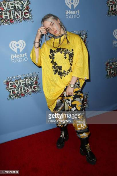 Singer Billie Eilish attends the screening of Warner Bros Pictures' 'Everything Everything' at the TCL Chinese Theatre on May 6 2017 in Hollywood...