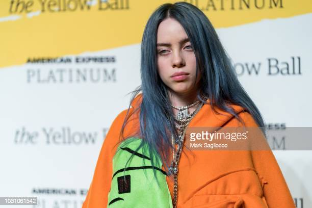 Singer Billie Eilish attends the Yellow Ball at the Brooklyn Museum on September 10 2018 in New York City