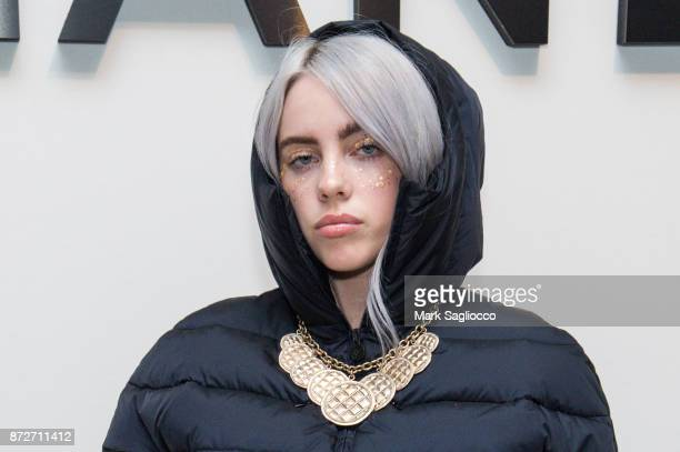 Singer Billie Eilish dressed in Chanel attends the CHANEL celebration of the launch of The Coco Club at The Wing Soho on November 10 2017 in New York...