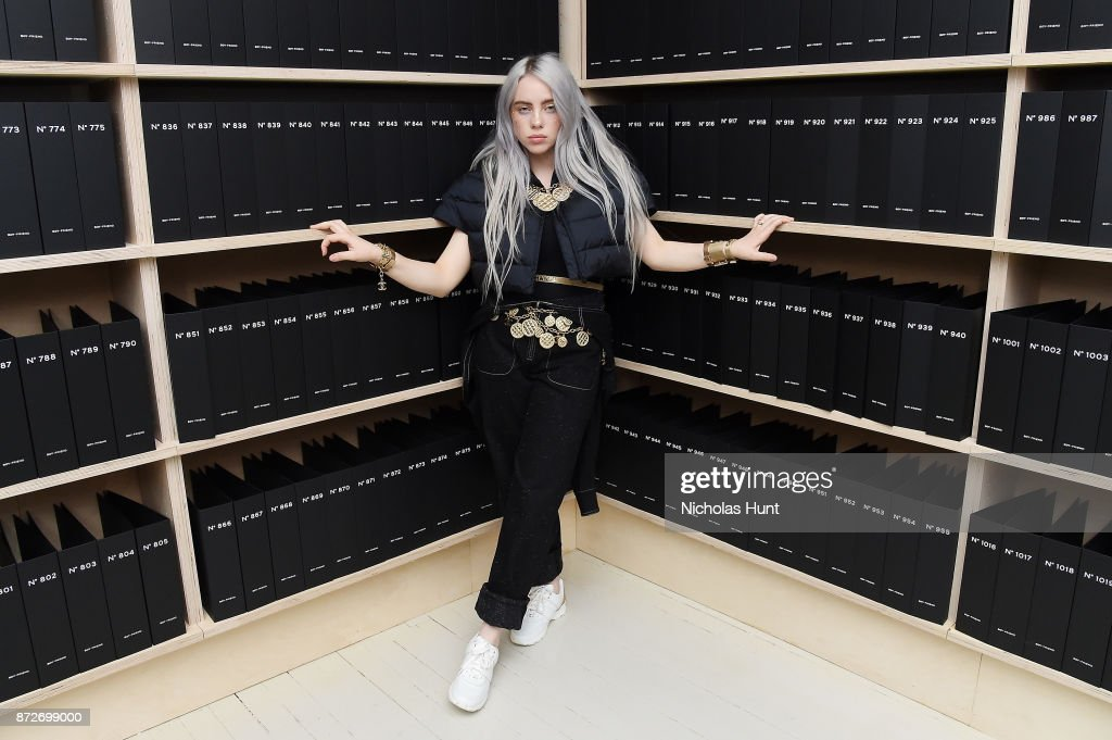 Singer Billie Eilish, wearing CHANEL, attends as CHANEL celebrates the launch of the Coco Club, a Boy-Friend Watch event at The Wing Soho on November 10, 2017 in New York City.
