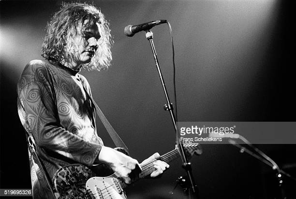 Singer Billy Corgan performs with the Smashing Pumpkins on January 20th 1992 at the Melkweg in Amsterdam Netherlands