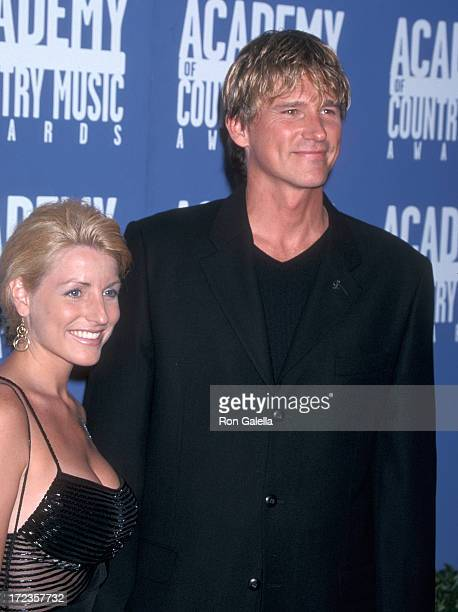 Singer Billy Dean and date Stephanie Paisley attend the 36th Annual Academy of Country Music Awards on May 9 2001 at Universal Amphitheatre in...