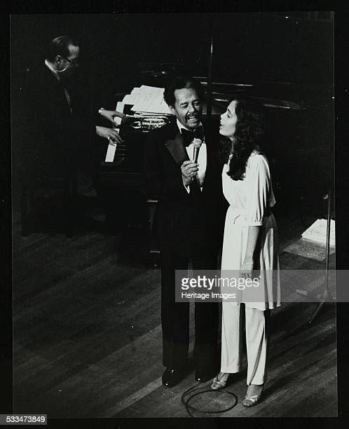 Singer Billy Eckstine on stage with his daughter Gina at the Forum Theatre Hatfield Hertfordshire 12 June 1980 The pianist is Bobby Tucker who worked...