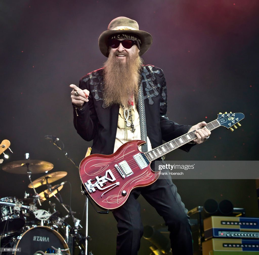 Singer Billy Gibbons of the American band ZZ Top performs