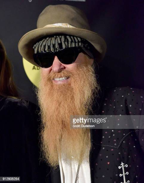 Singer Billy Gibbons of ZZ Top attends the Adopt the Arts annual rock gala at Avalon Hollywood on January 31 2018 in Los Angeles California