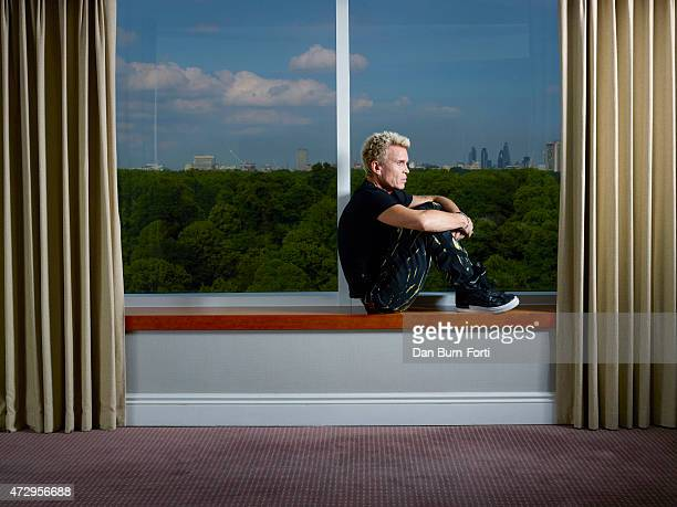 Singer Billy Idol is photographed for the Times on July 17 2014 in London England