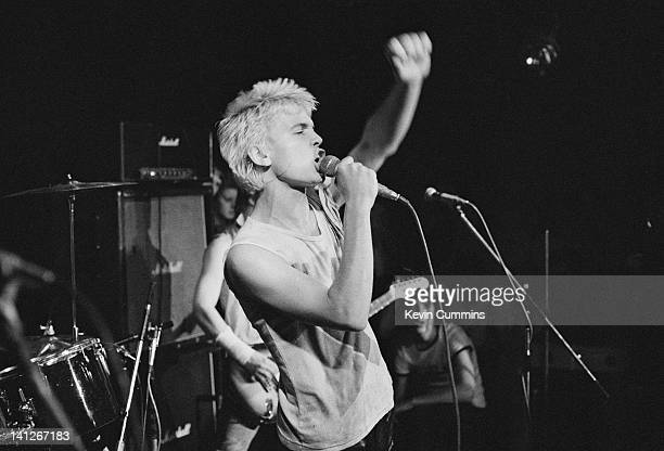Singer Billy Idol performing with British punk group Generation X at Rafters, Manchester, 23rd September 1977.
