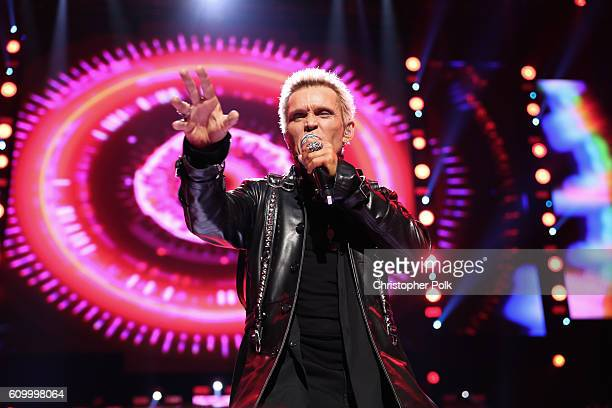 Singer Billy Idol performs onstage at the 2016 iHeartRadio Music Festival at T-Mobile Arena on September 23, 2016 in Las Vegas, Nevada.