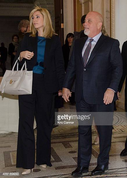 Singer Billy Joel and Girlfriend Alexis Roderick attend the Honorees of the Gershwin Prize for Popular Song luncheon at the Library of Congress...