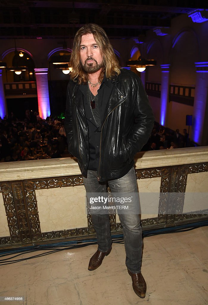 Singer Billy Ray Cyrus attends the Salute To Heroes service gala to benefit The National Foundation For Military Family Support at The Majestic Downtown on March 14, 2015 in Los Angeles, California.
