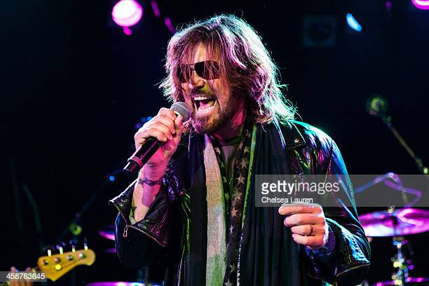 Singer Billy Ray Cyrus performs during the Camp Freddy holiday residency at The Roxy Theatre on December 20 2013 in West Hollywood California