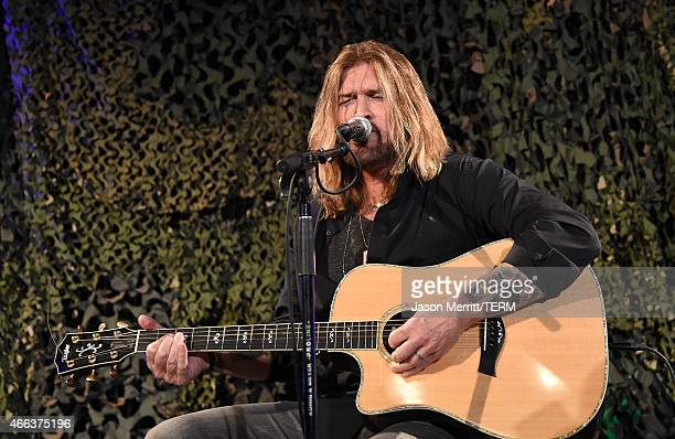 Singer Billy Ray Cyrus performs during the Salute To Heroes service gala to benefit The National Foundation For Military Family Support at The...