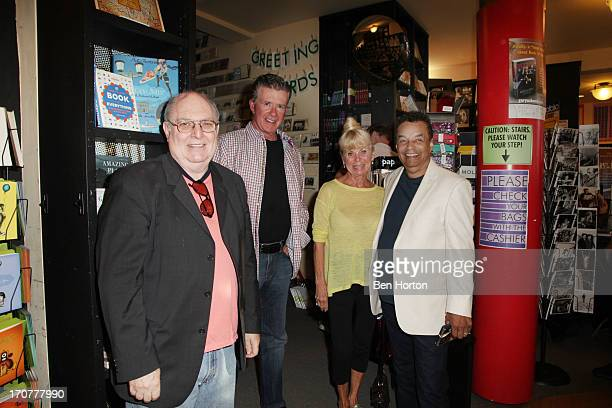 Singer Billy Vera actor Alan Thicke Kari Clark and singer Gary US Bonds attend the Gary US Bonds book signing at Book Soup on June 17 2013 in West...