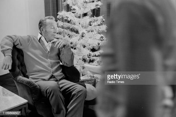 Singer Bing Crosby on the set of the Christmas special of the BBC television show 'Disney Time', September 5th 1975.