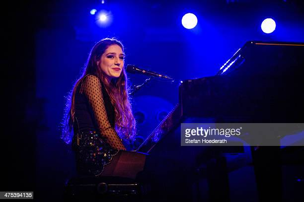 Singer Birdy performs live during a concert at Astra on February 27 2014 in Berlin Germany