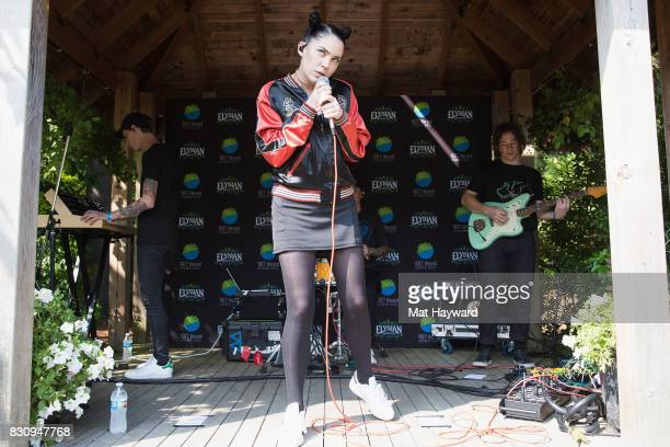 Singer Bishop Briggs performs during an EndSession backstage during the Summer Camp music festival hosted by 1077 The End at Marymoor Park on August...