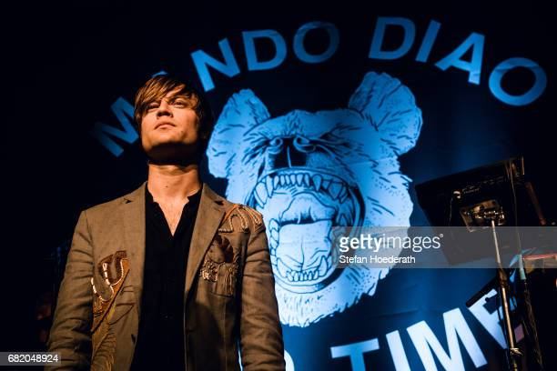 Singer Bjoern Dixgard of Mando Diao performs live on stage during a concert at Saeaelchen on May 11 2017 in Berlin Germany