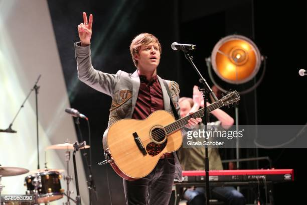 Singer Bjoern Dixgard of the band Mando Diao performs during the ABOUT YOU AWARDS at the Mehr Theater in Hamburg on May 4 2017 in Hamburg Germany