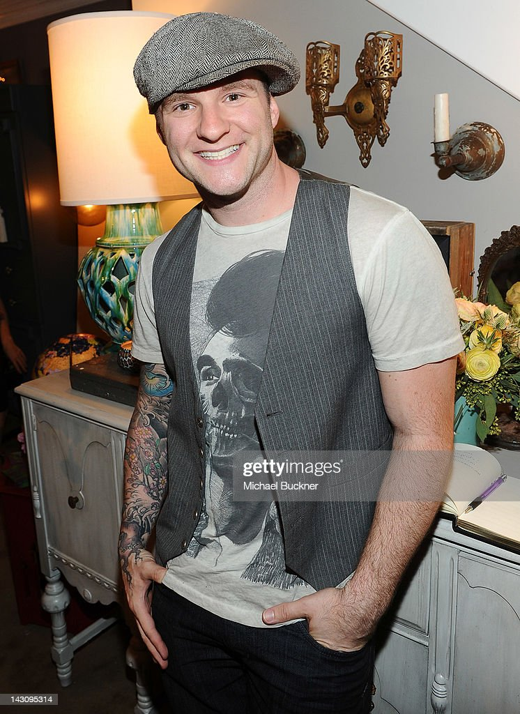 Singer Blake Lewis attends the Launch Party for Kishani Perera's new book, 'Vintage Remix' at Rummage on April 18, 2012 in Los Angeles, California.