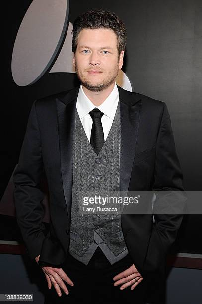Singer Blake Shelton arrives at the 54th Annual GRAMMY Awards held at Staples Center on February 12 2012 in Los Angeles California