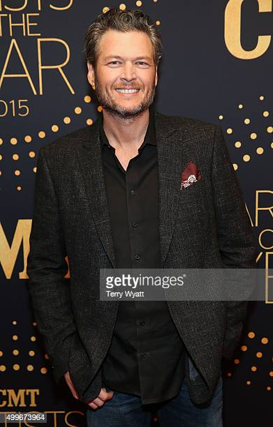Singer Blake Shelton attends the 2015 'CMT Artists of the Year'at Schermerhorn Symphony Center on December 2 2015 in Nashville Tennessee