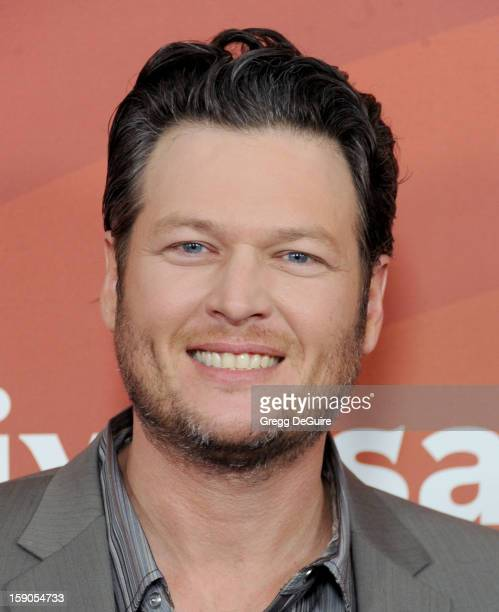 Singer Blake Shelton poses at the 2013 NBC Universal TCA Winter Press Tour Day 1 at The Langham Huntington Hotel and Spa on January 6 2013 in...