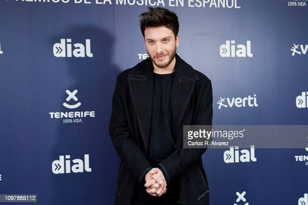 Singer Blas Canto attends the Cadena Dial Awards 2019 press conference on January 22 2019 in Madrid Spain