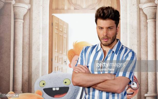 Singer Blas Canto attends 'Uglydolls Extraordinariamente Feos' photocall on April 25 2019 in Madrid Spain
