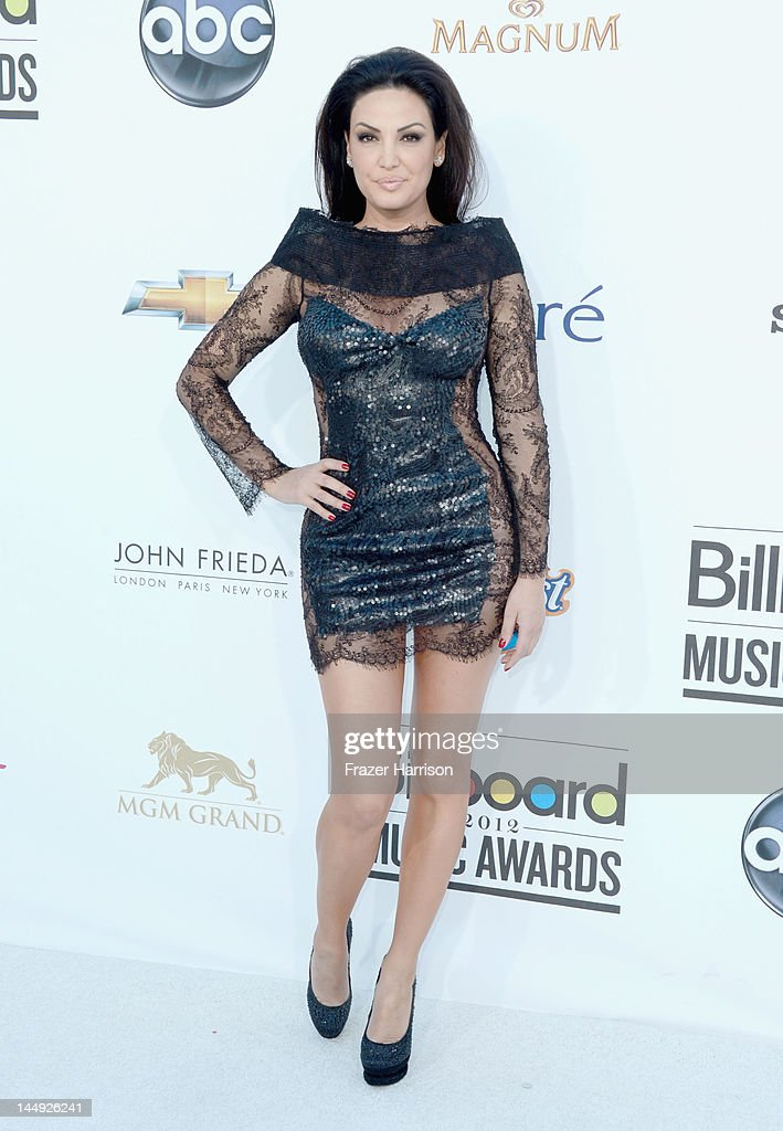 Singer Bleona Qereti arrives at the 2012 Billboard Music Awards held at the MGM Grand Garden Arena on May 20, 2012 in Las Vegas, Nevada.