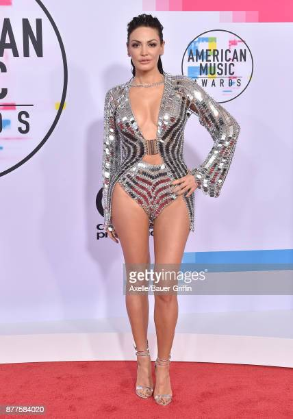 Singer Bleona Qereti arrives at the 2017 American Music Awards at Microsoft Theater on November 19 2017 in Los Angeles California