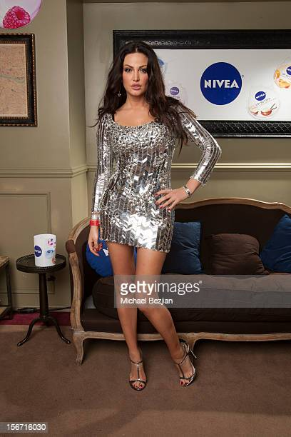 Singer Bleona Qereti attends Interscope Records AMA After Party Hosted By NIVEA Lip Butters Ciroc Ultra Premium Vodka Portraits Inside on November 18...