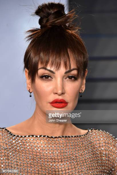 Singer Bleona Qereti attends the 2018 Vanity Fair Oscar Party hosted by Radhika Jones at Wallis Annenberg Center for the Performing Arts on March 4...