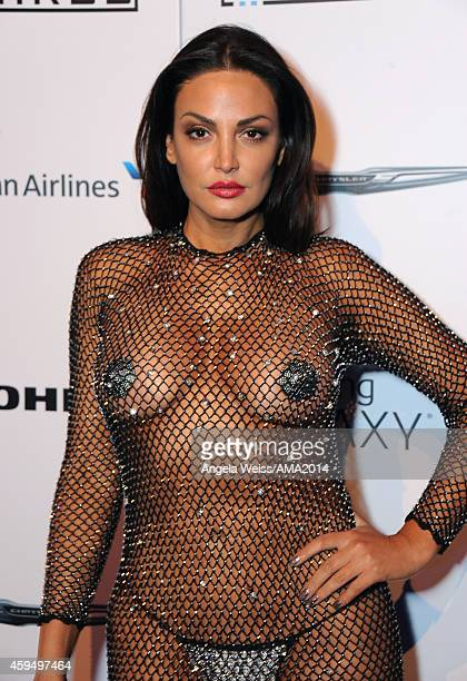 Singer Bleona Qereti attends the official 2014 American Music Awards after party at the at Nokia Theatre LA Live on November 23 2014 in Los Angeles...